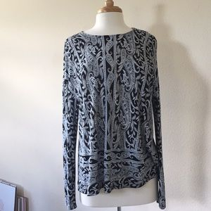 J Jill Paisley Top Plus Size